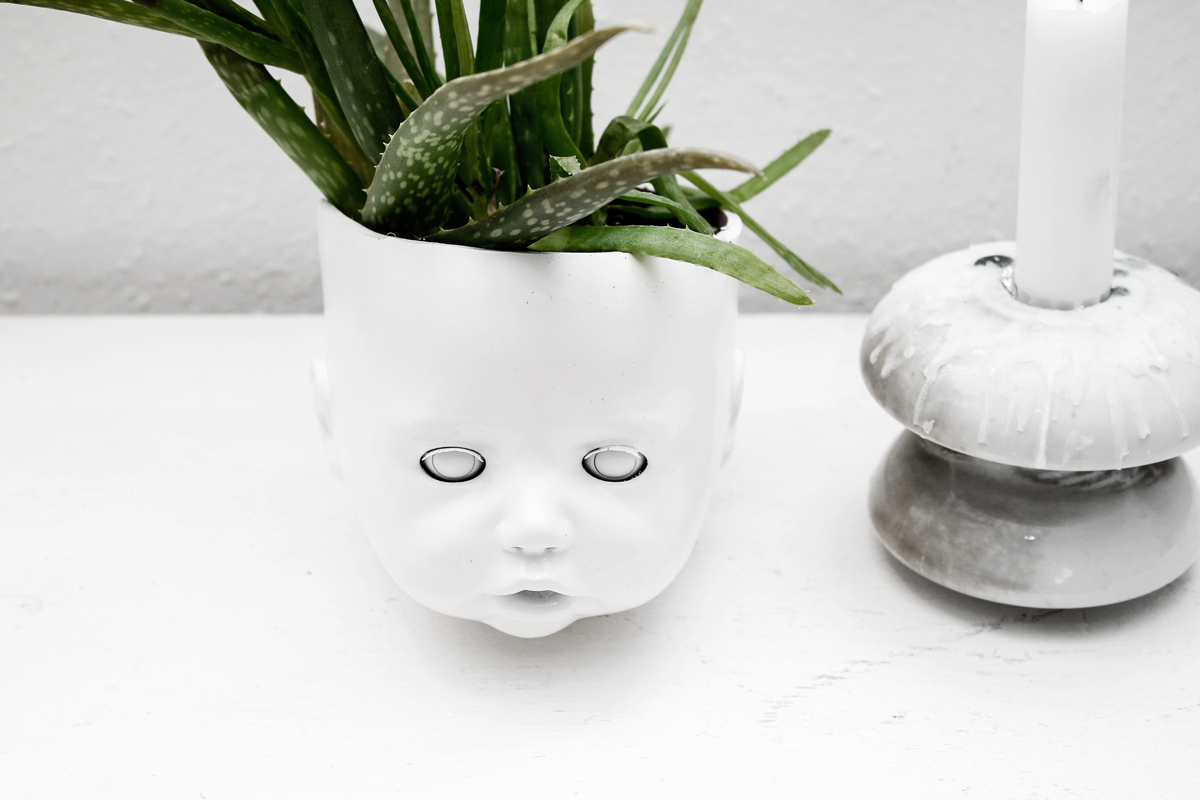 DIY DOLL HEAD PLANTER