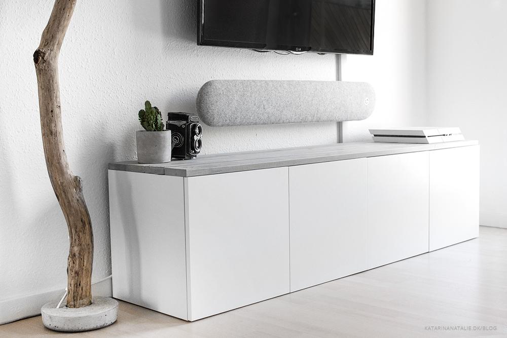 ikea tv bord KATARINA NATALIE   DIY TV TABLE   IKEA HACK ikea tv bord