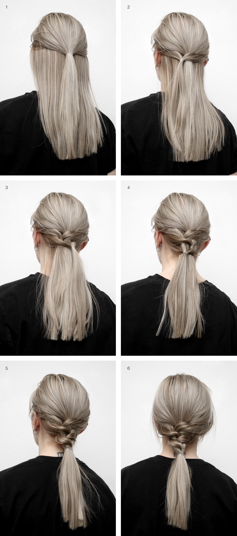 Cool simple ponytail by Katarina Natalie